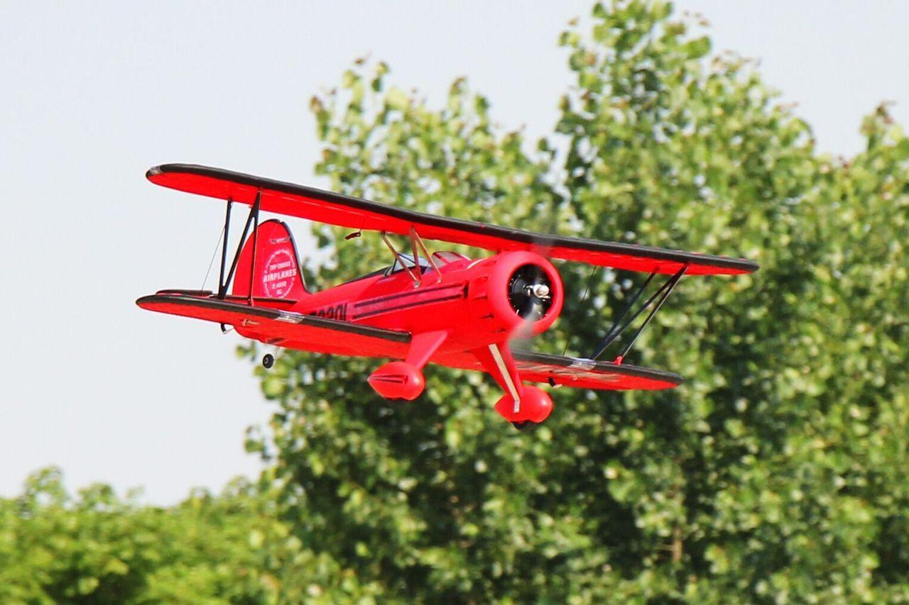 "RC Airplane  DYNAM WACO YMF-5D RED 1270mm (50"") PNP"