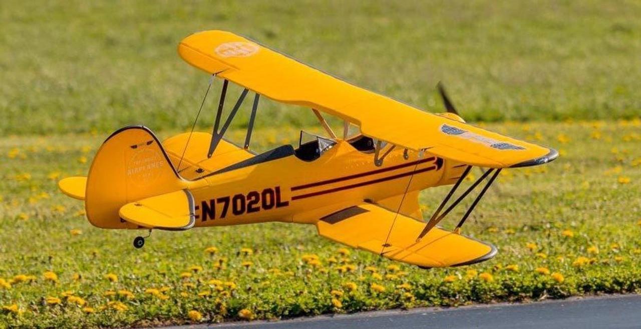 "RC Airplane  DYNAM WACO YMF-5D Yellow 1270mm (50"") PNP"