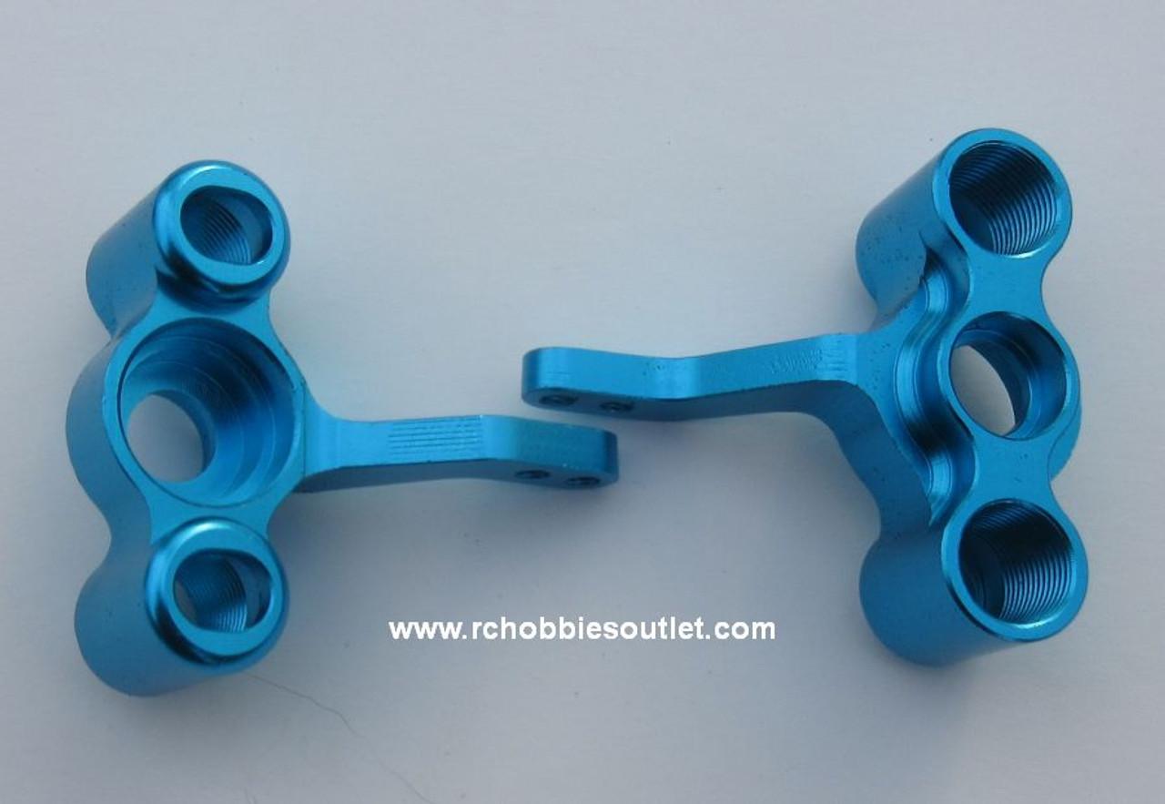 122211 / 122011 Blue Aluminum Steering Arm /Knuckles HSP  Redcat ETC