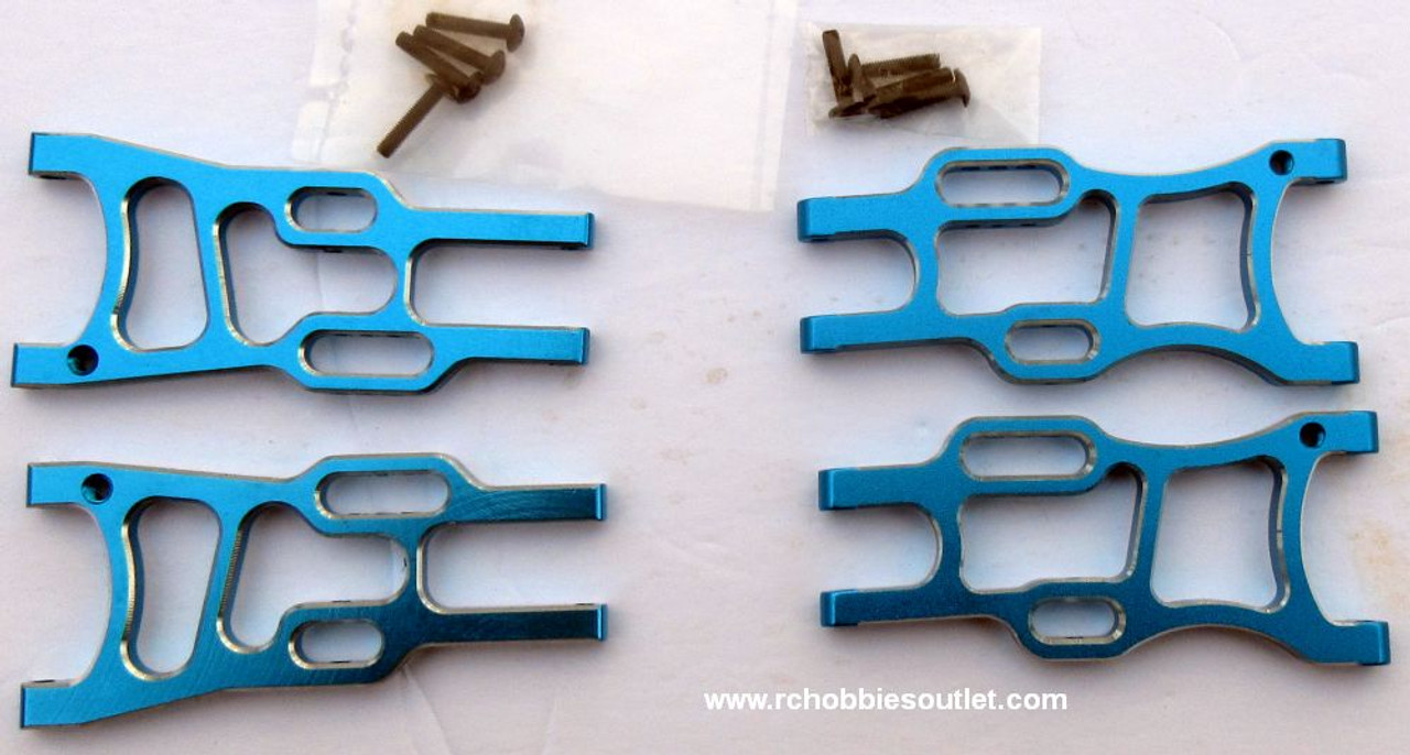 1/10 Scale Blue Lower Suspension Arm Upgrade Bundle 108819 and 108821