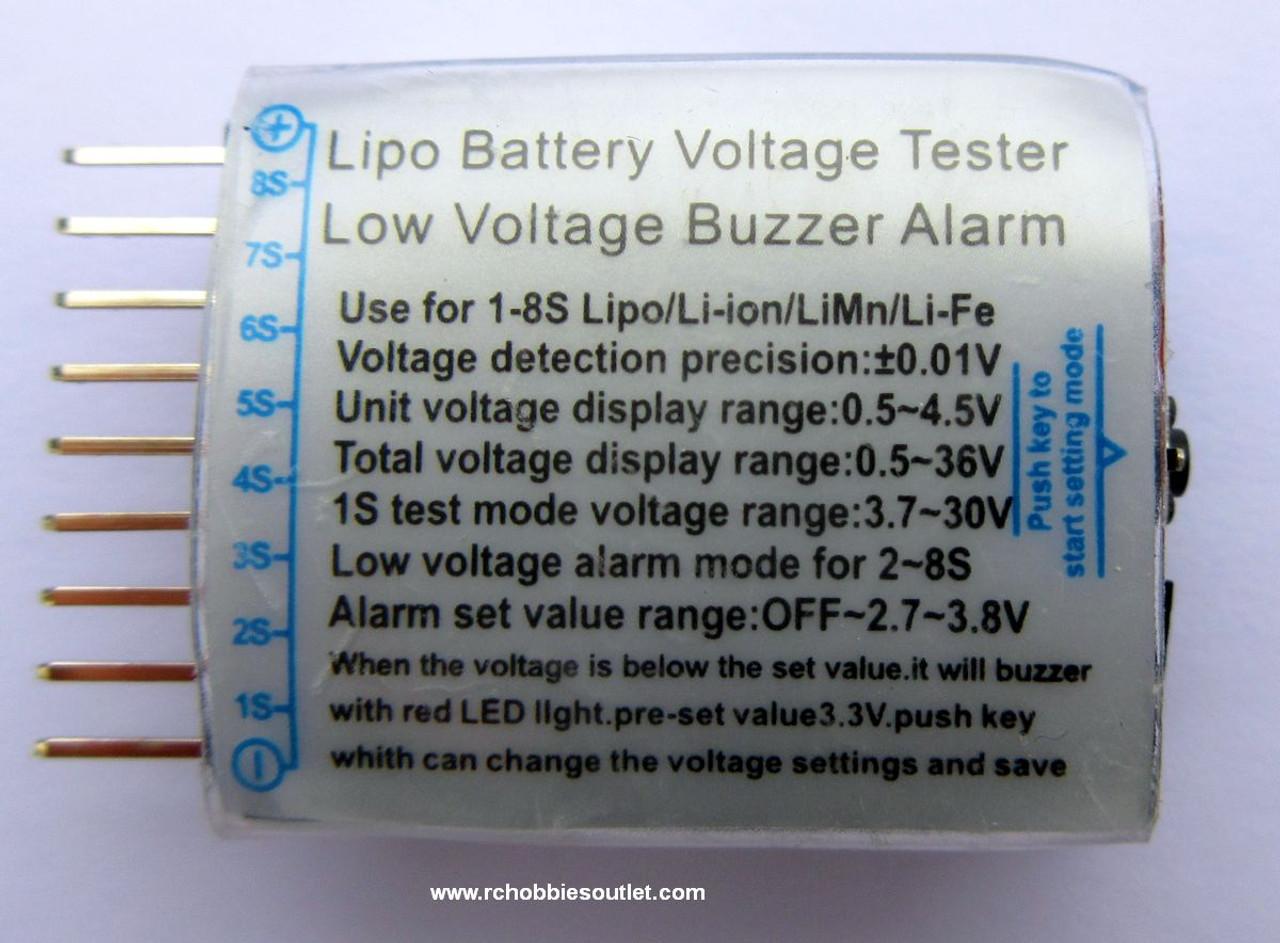 LIPO  Voltage Tester and Low Voltage Buzzer Alarm