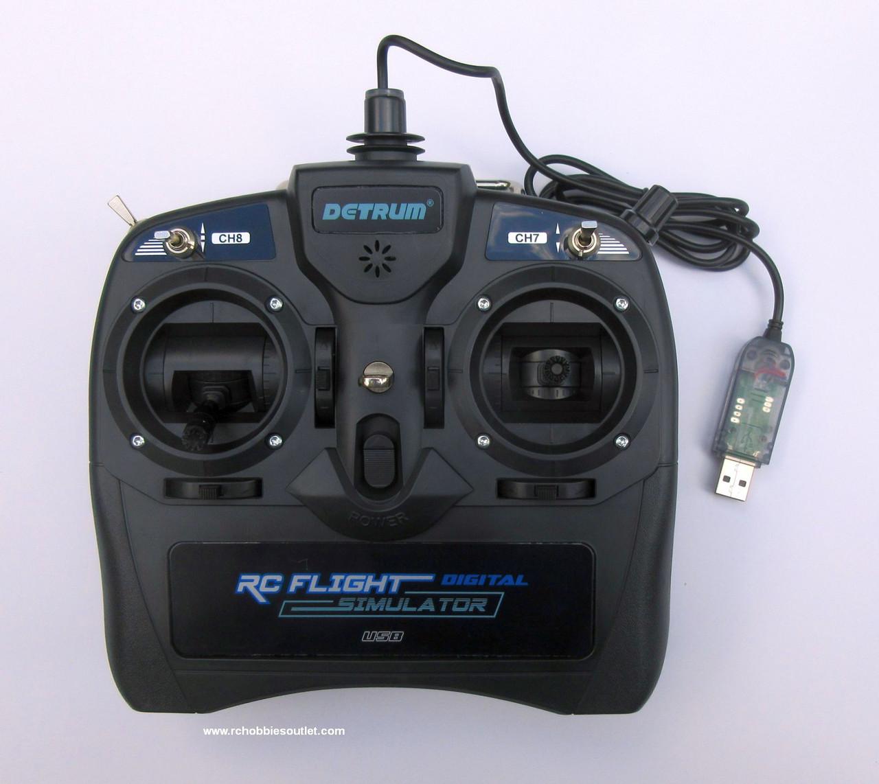 Detrum 8-Channel R/C Flight Simulator - DY-DTM-U001