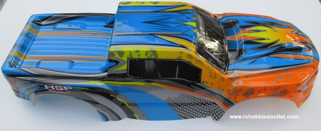 97291 Body Shell for 1/8 Scale Truck Precut HSP.  Redcat