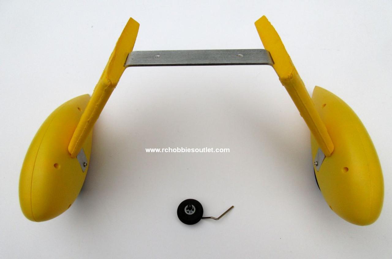 WACO-08 Landing Gears for Dynam Waco -Yellow