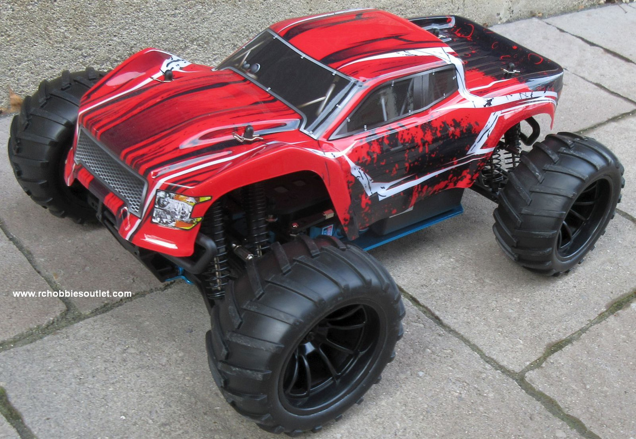 RC Nitro Gas Monster Truck HSP 1/10 Scale 4WD 2.4G RTR 70195
