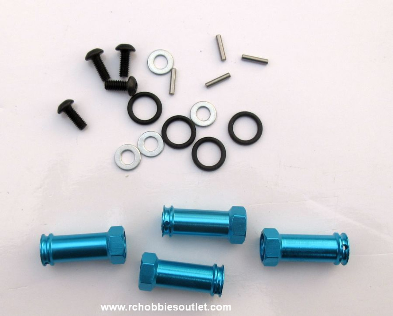 12mm Wheel Hex Hub Extenders 4PC for HSP. Redcat  1/10 Scale