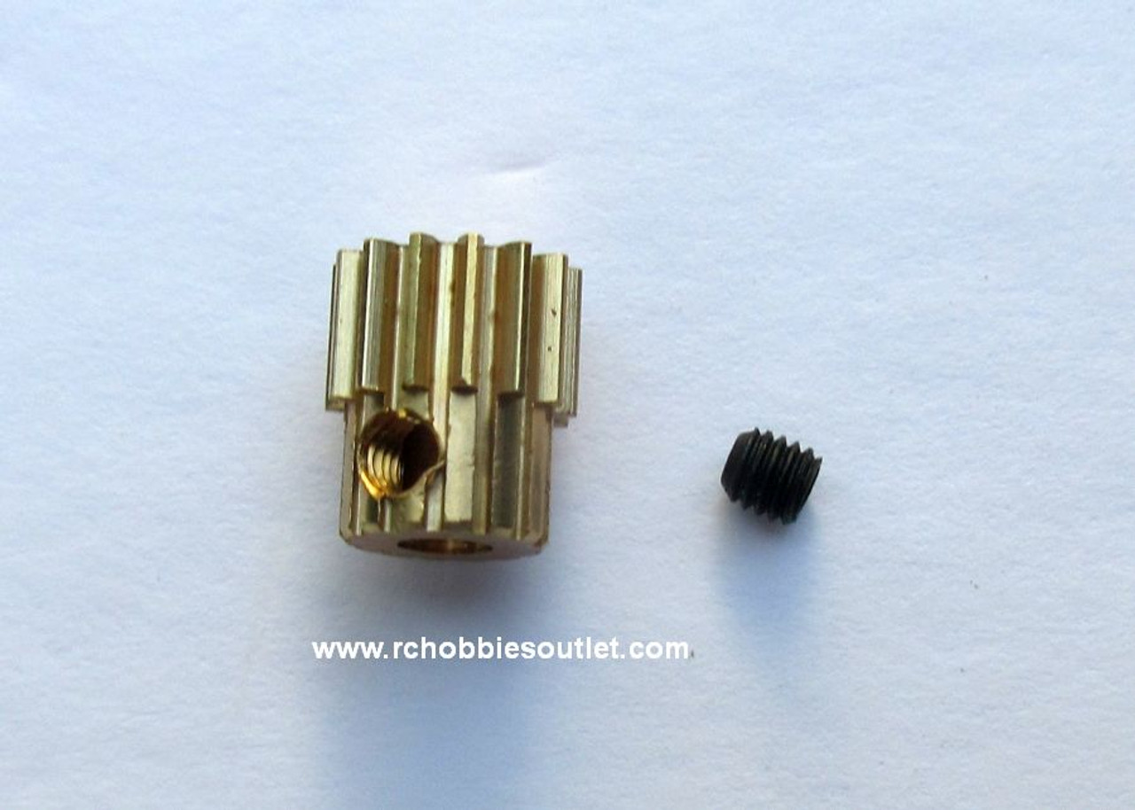 R86044 Brass Pinion / Motor Gear 14 Teeth