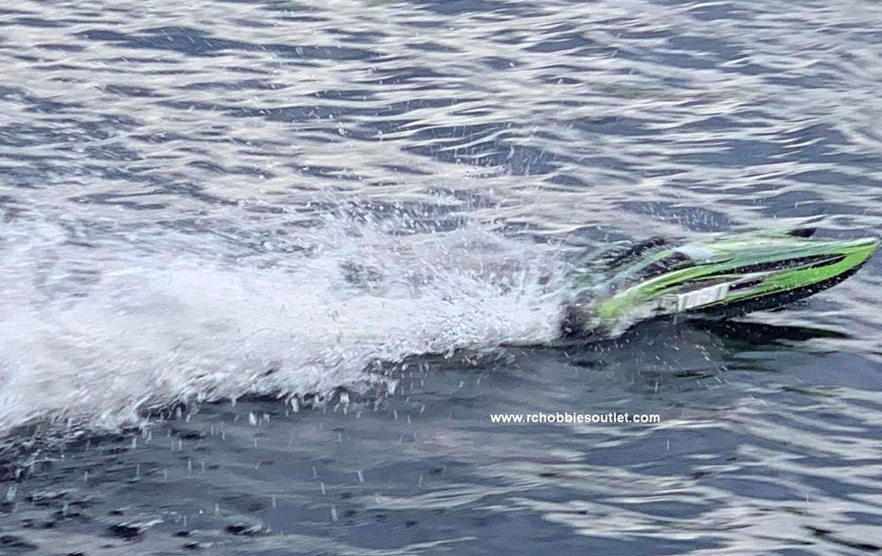 RC Racing Boat Big Storm Brushless Electric ARTR Catamaran
