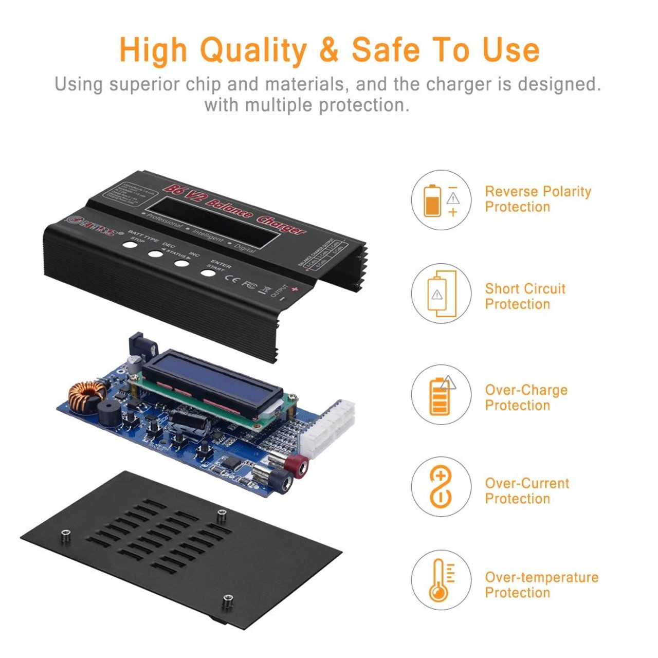 HTRC B6 V2 80W RC Charger NIMH  & LIPO Balance  Fast Charger