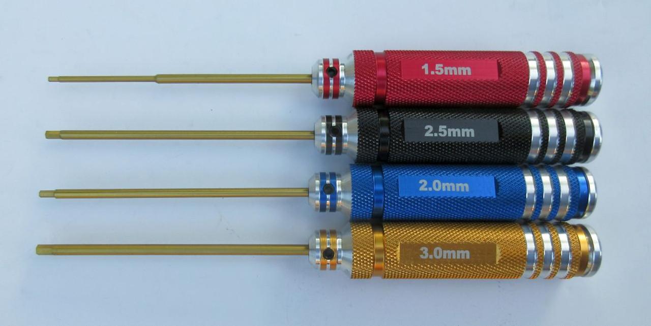 Precision RC Multi-Color Hex Allen Key Set 1.5, 2.0, 2.5, 3.0 mm