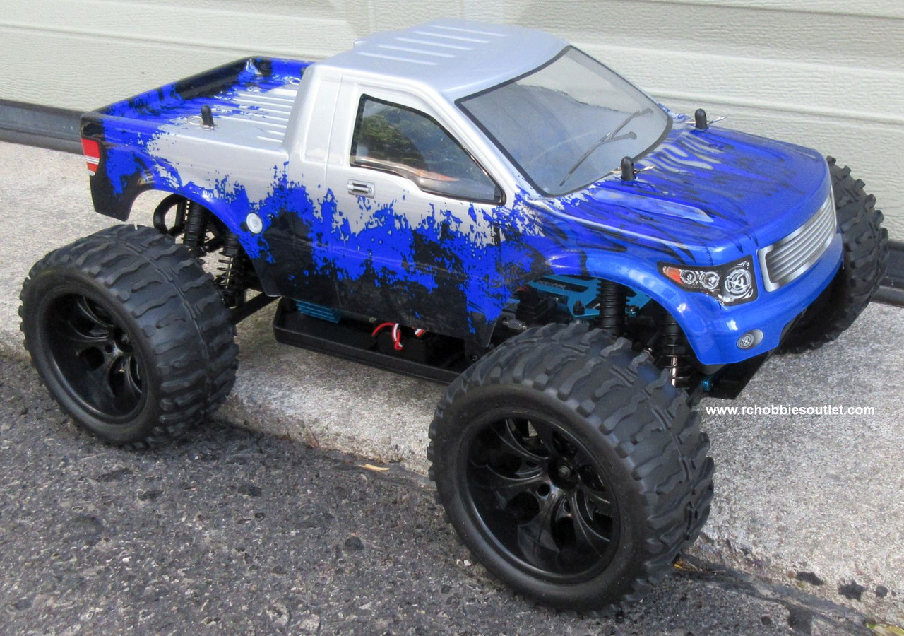 RC Truck Electric 1/10 Scale 4WD 2.4G Off- Road, RTR 88074