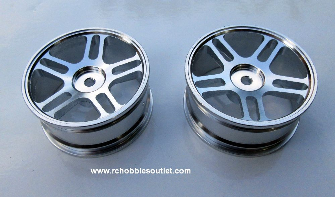 02228  Chrome Metal Rim  Upgrade fo On-road Car