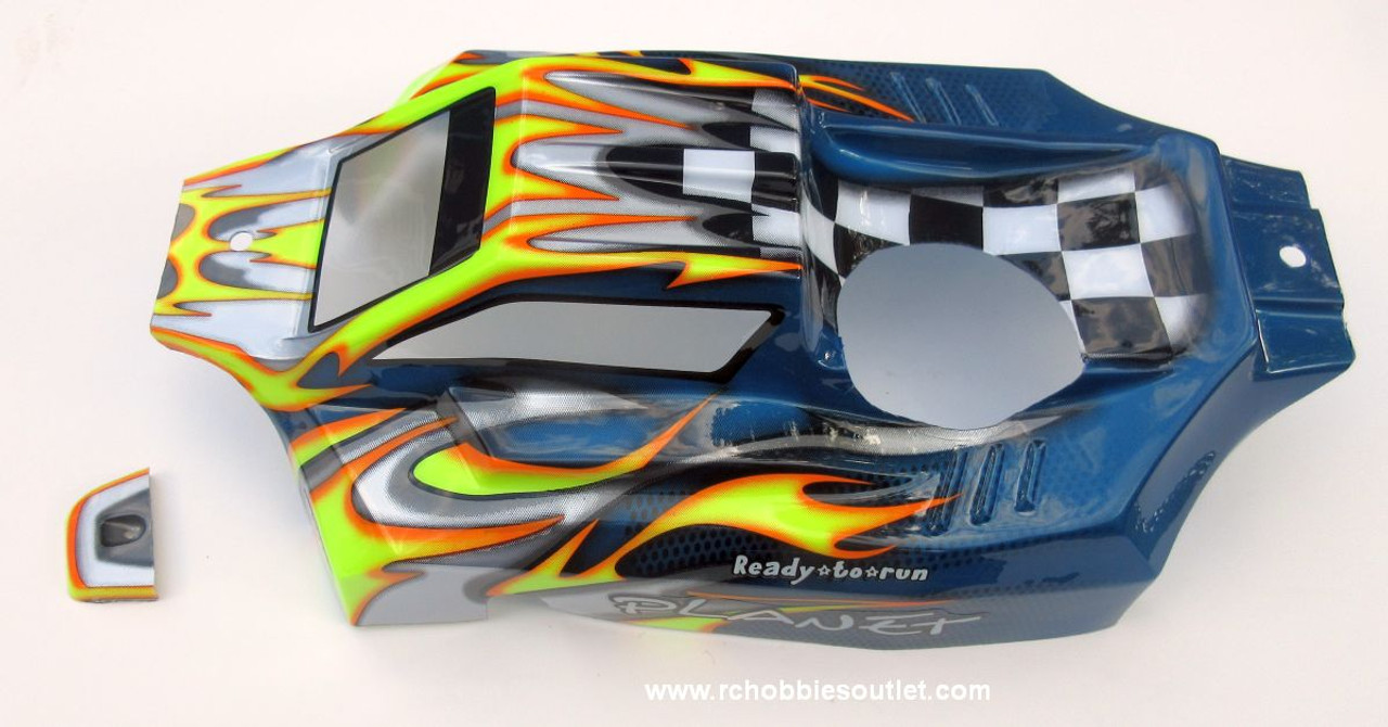 97091  1/8 Scale Body Shell for RC Buggy with Nitro Engine Cut-out