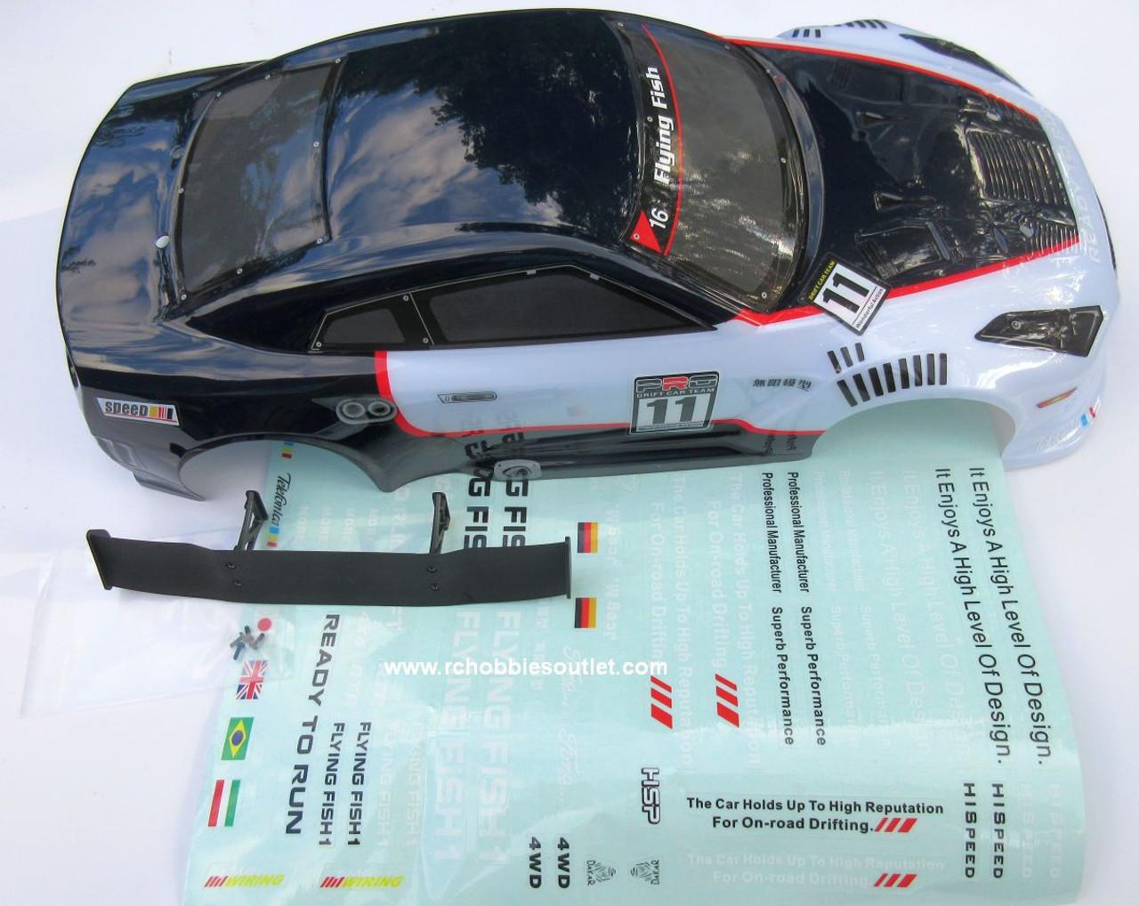 GTR-2   RC Car Body Shell 1/10 Scale  HSP, Redcat, etc