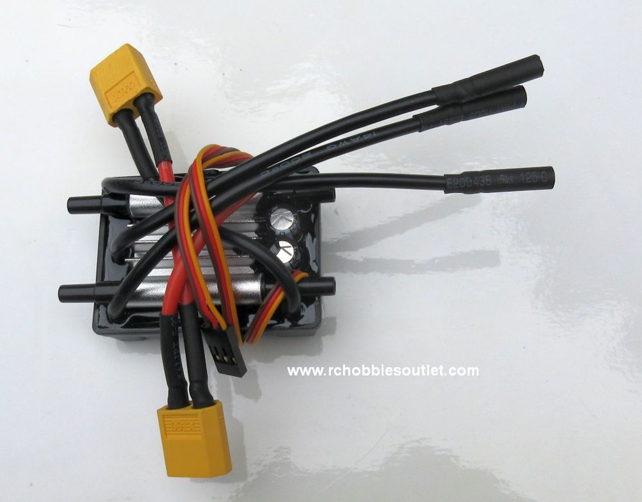 830122 60A Water Cooled Brushless ESC w/ Two XT60 Connectors for Big Storm RC Boat Joysway