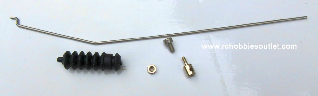 860312 Pushrod with Boot and Clevis Set Joysway Boat