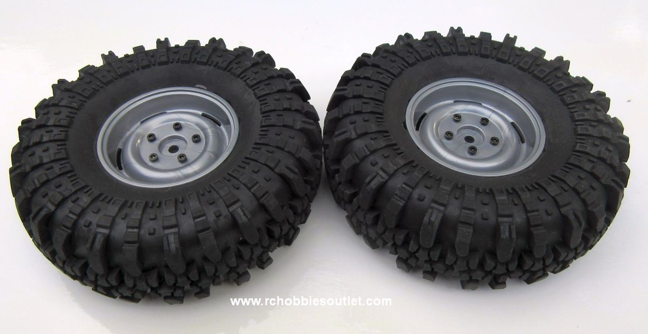 R86223 Premounted Tire and  Wheel Complete ( 1 pair) for RGT Pioneer Crawler
