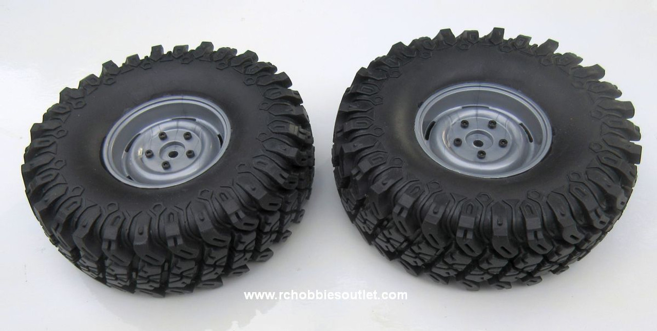R86031 Premounted Tire and  Wheel Complete ( 1 pair) for RGT 86100 Crawler