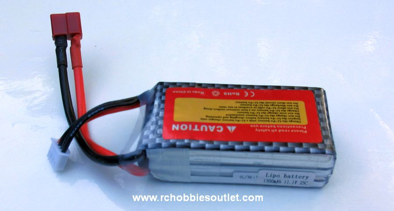 11.1v 1300 mah 25 C LIPO Battery for Vehicles, Drones or Airplanes