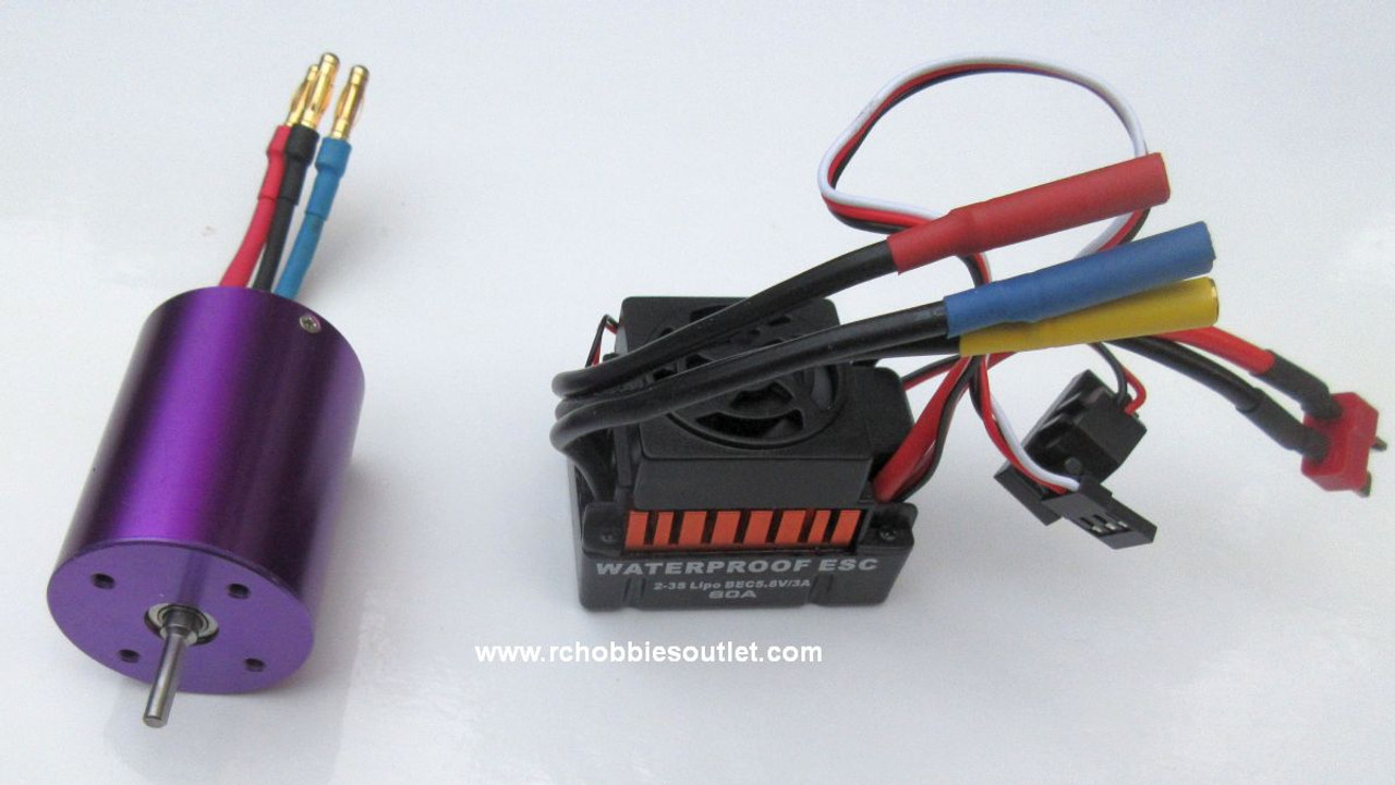 Brushless Electric Upgrade Bundle for 1/10 HSP Brushed Electric Vehicles