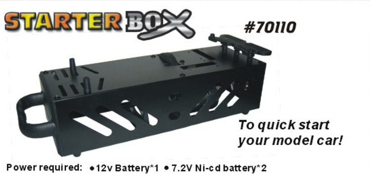 70110 1/8 1/10 SCALE RC NITRO TRUCK BUGGY STARTER BOX