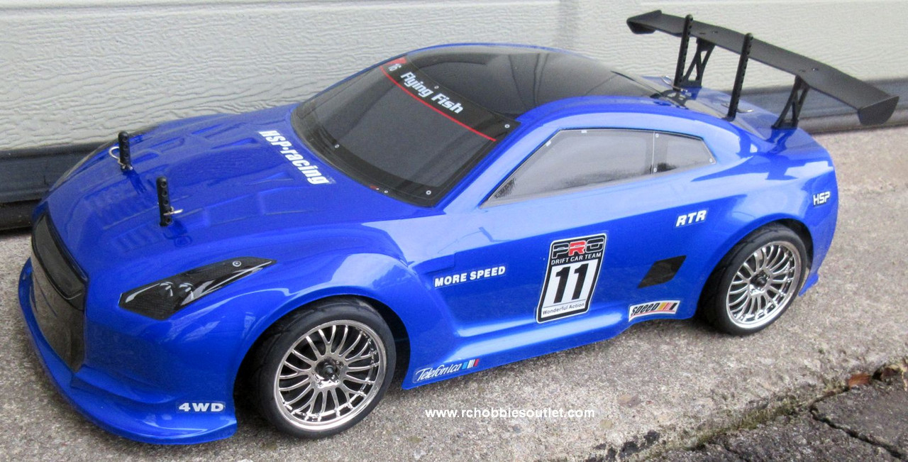 RC  Race Car HSP Brushless Electric 1/10 Scale Pro LIPO  4WD 2.4G GTR -BL