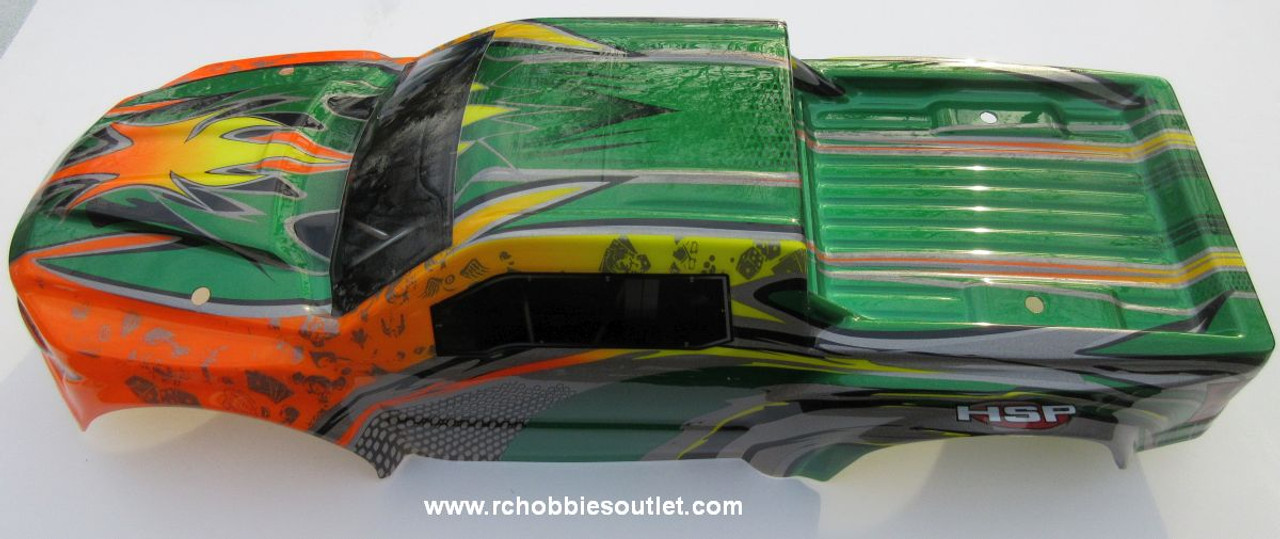 97293 Body Shell for 1/8 Scale Truck Precut HSP.  Redcat