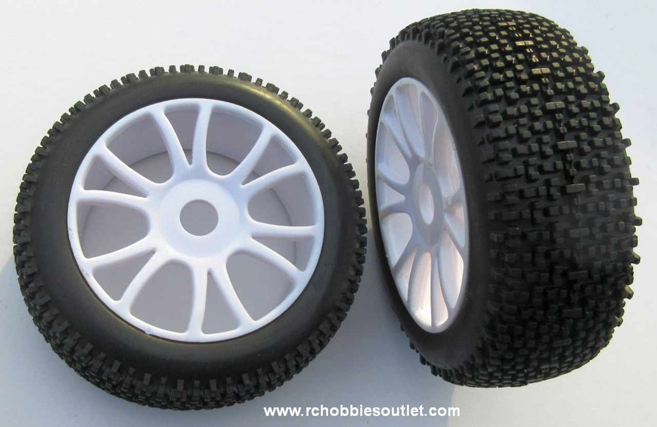 99027 Wheels  with White Rim for 1/8 Scale RC HSP