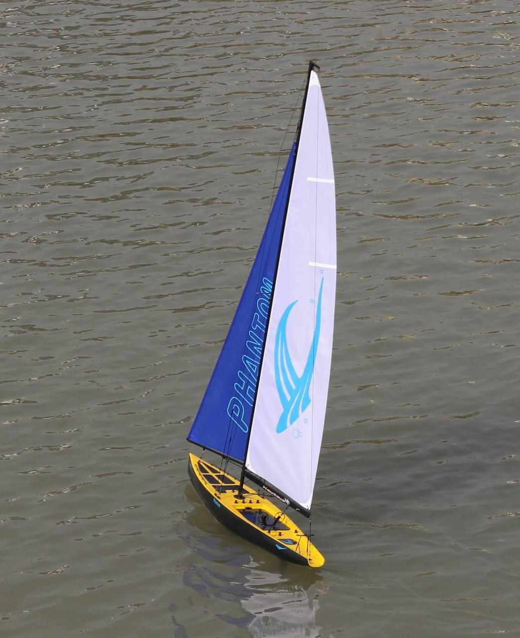 Phantom RC Sail Boat Racing Yacht  Sailboat 2.4G Radio Remote Control RTR