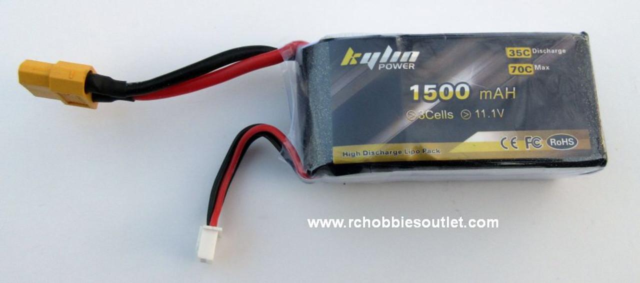 Kaylin 11.1V 1500mAh 35C  LIPO Battery  XT60 Connector