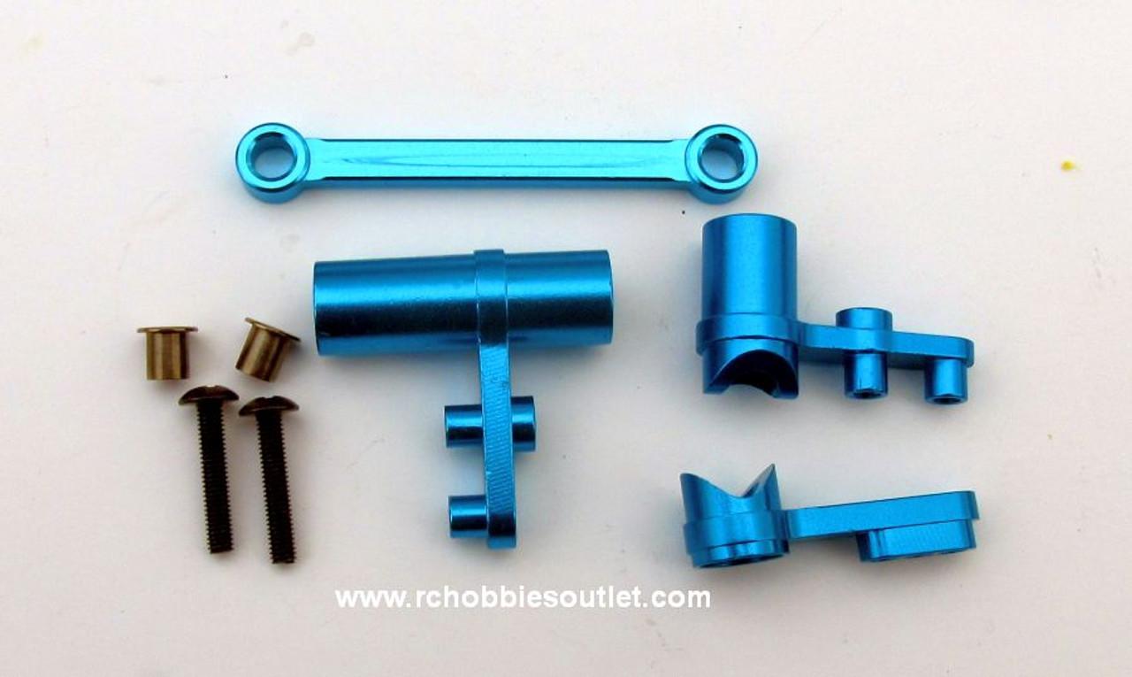102057 or 102257 Aluminum Alloy Servo Saver Upgrade Blue with 102240
