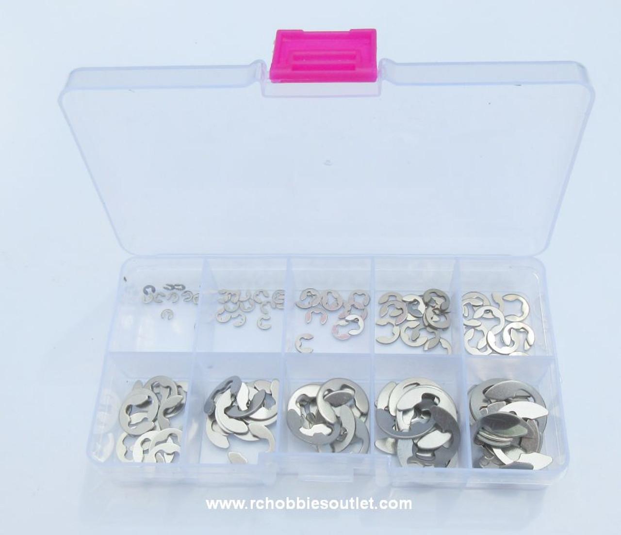 120 Piece Stainless Steel  E Clip  Assortment Kit