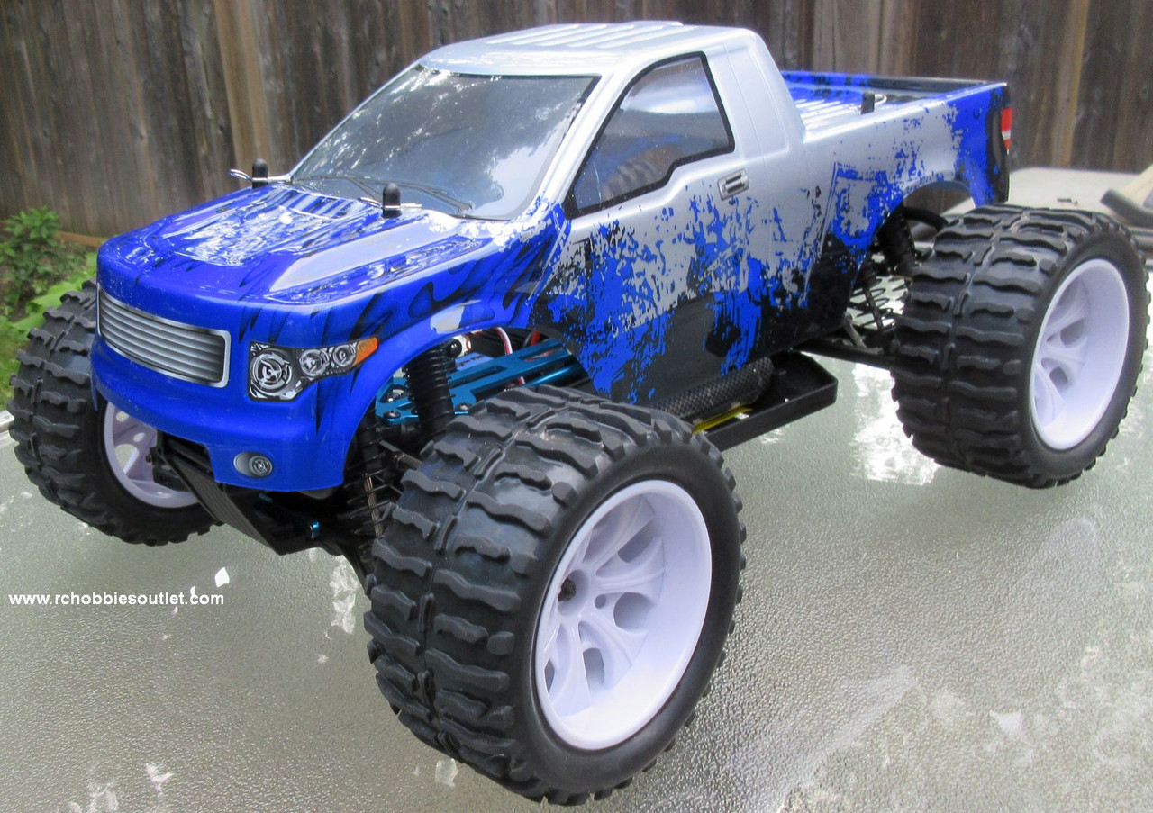 RC Truck Electric 1/10 Scale 4WD 2.4G Off- Road, RTR 88074 WH