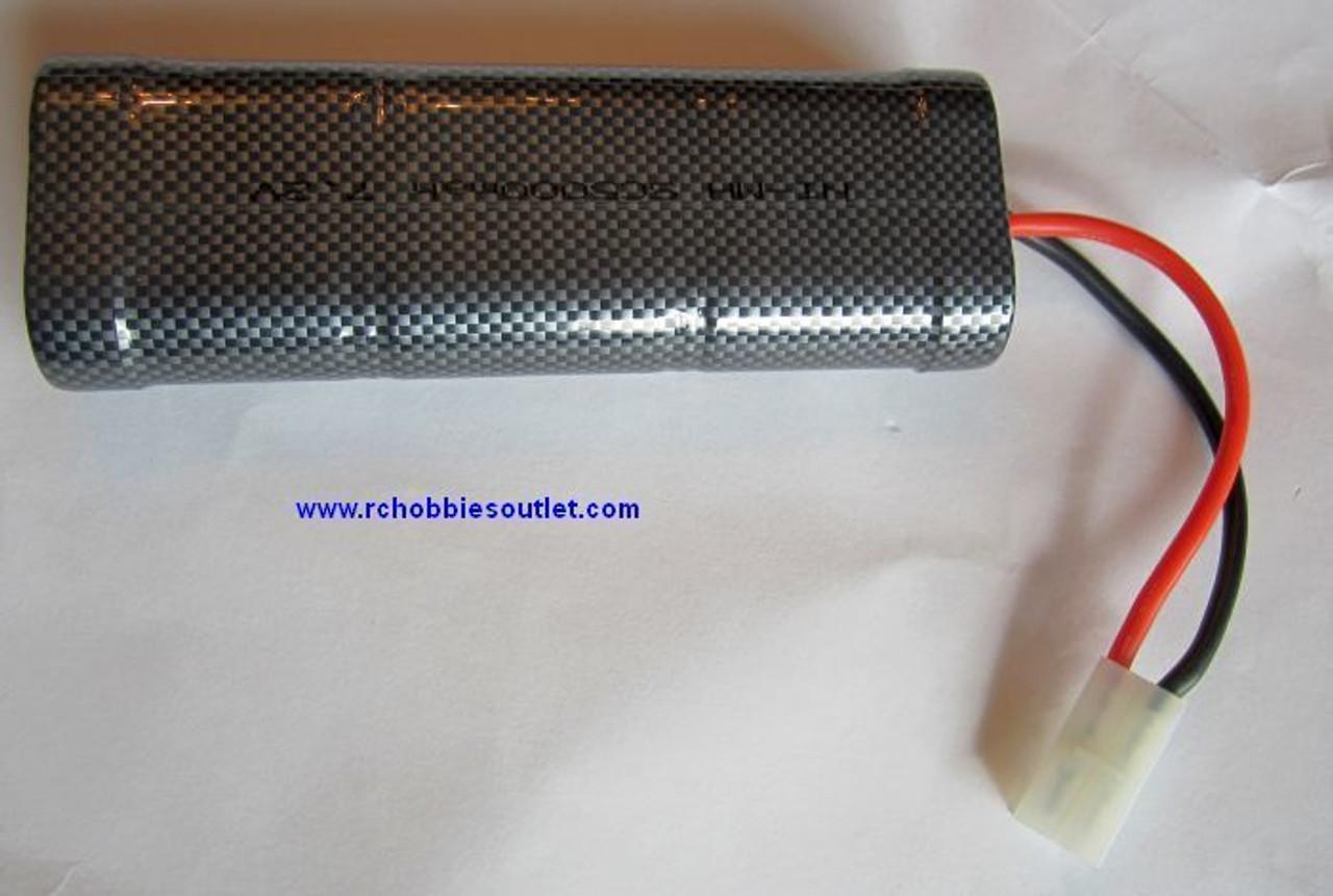 NIMH Battery 5000 MAH  Rechargeable 7.2 VOLT TAMIYA Connector