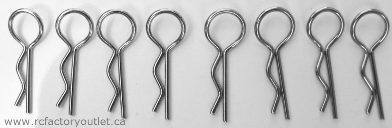 86090 BODY CLIPS / PINS HSP 1/16 SCALE