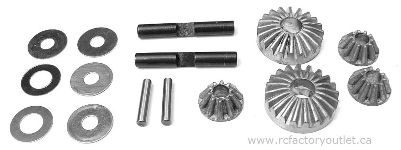 81042 Differential Gear Set HSP 1/8 SCALE BAZOOKA TORNADO, Redcat ETC