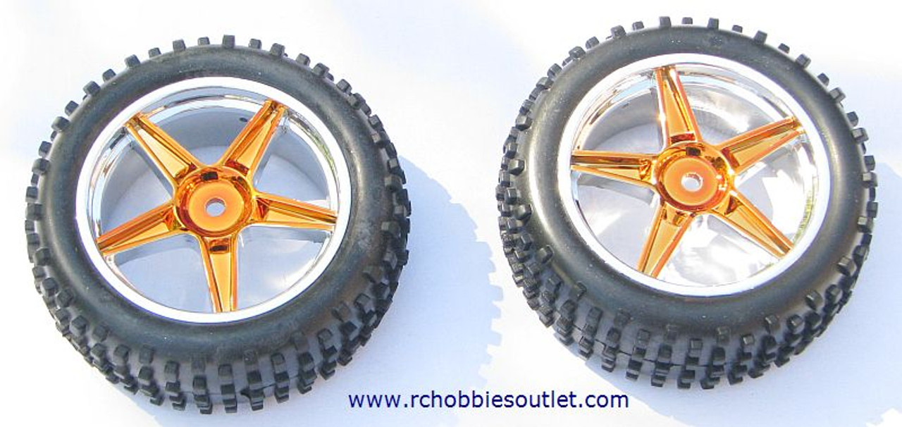 06010 1/10 Scale Tire & Rim Gold  HSP ATOMIC