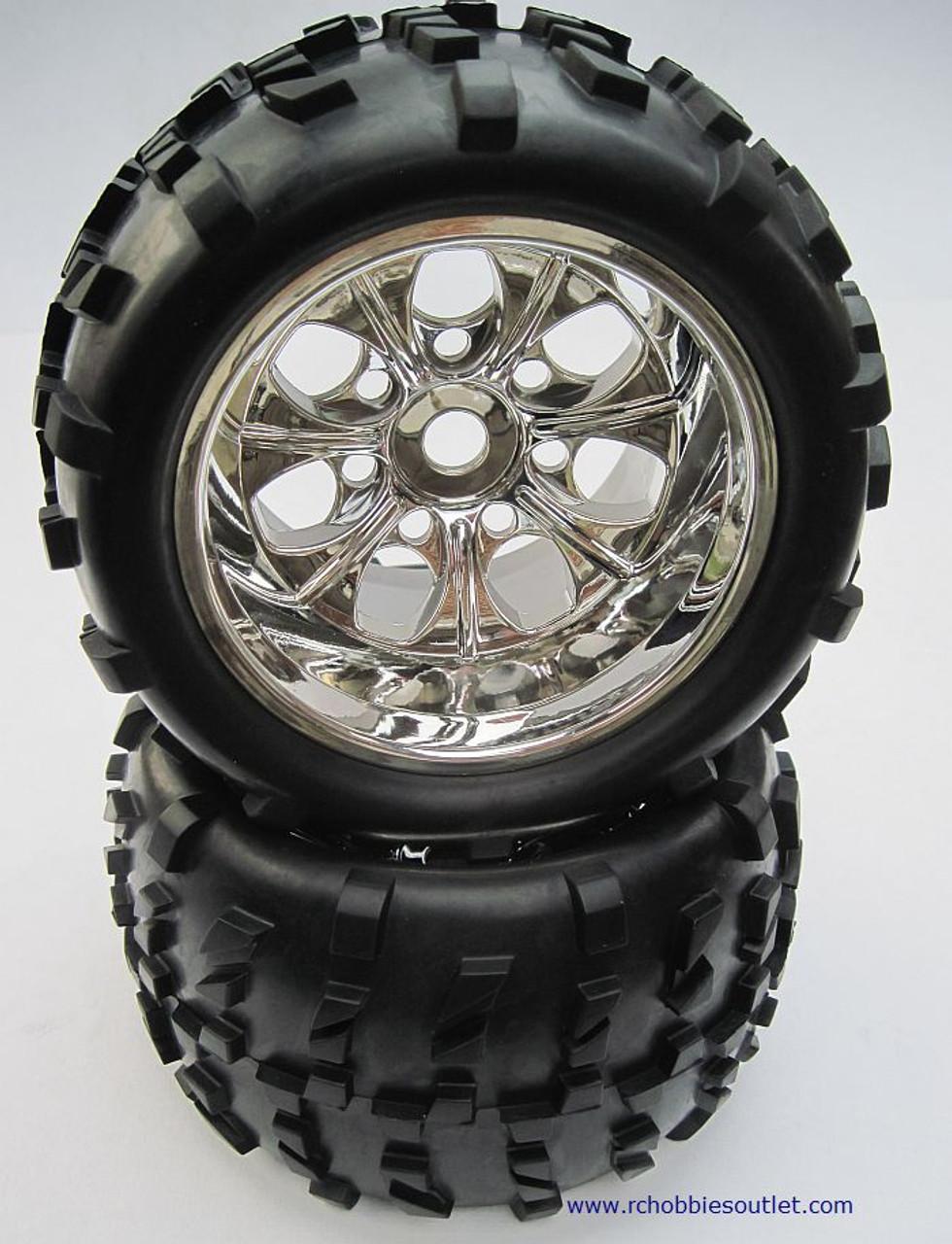 62012 1 8 Scale Truck Wheel Rims Tires Complete 2pc Rchobbiesoutlet