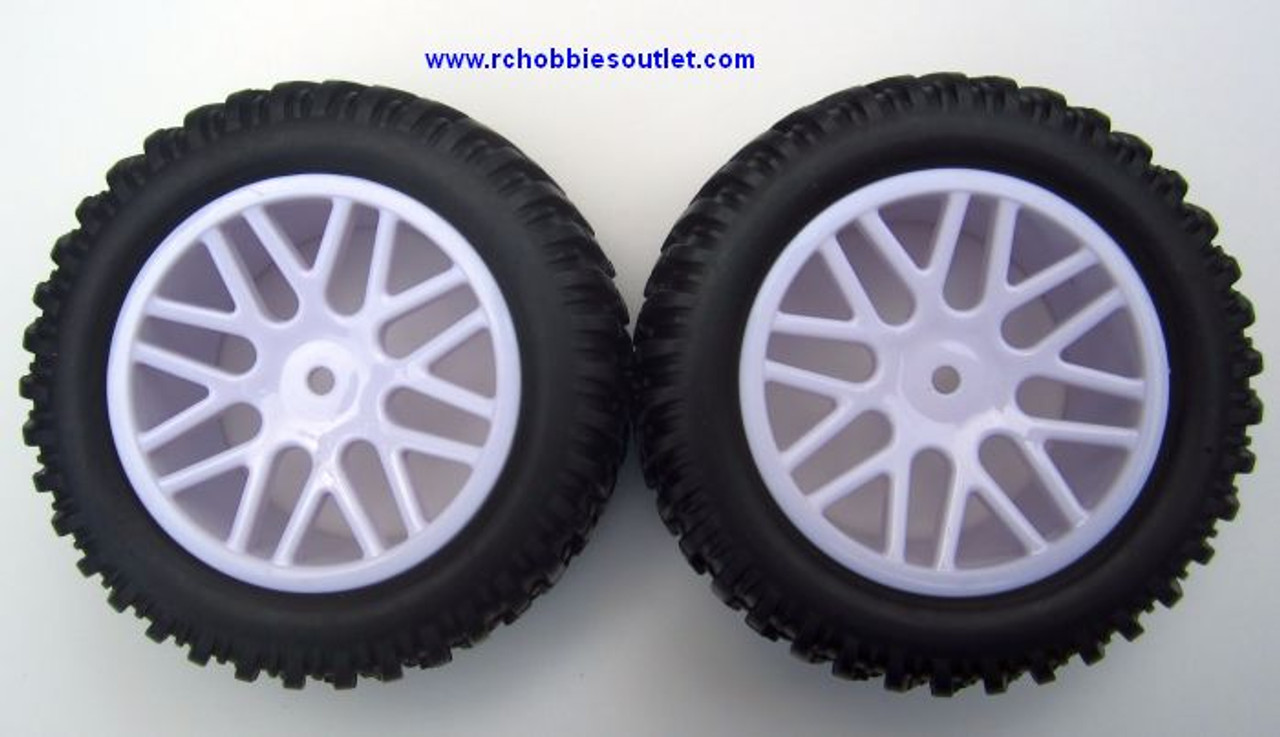 15520 15502 Wheel Tire & White Rim   for Short Course Truck