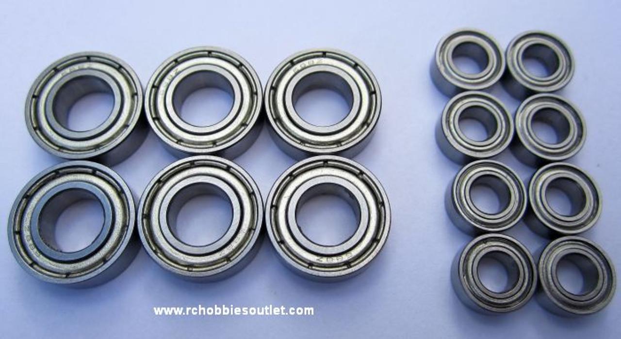 81070 Bearings HSP 1/8 SCALE BAZOOKA TORNADO  6 Large and 8  small Bearings