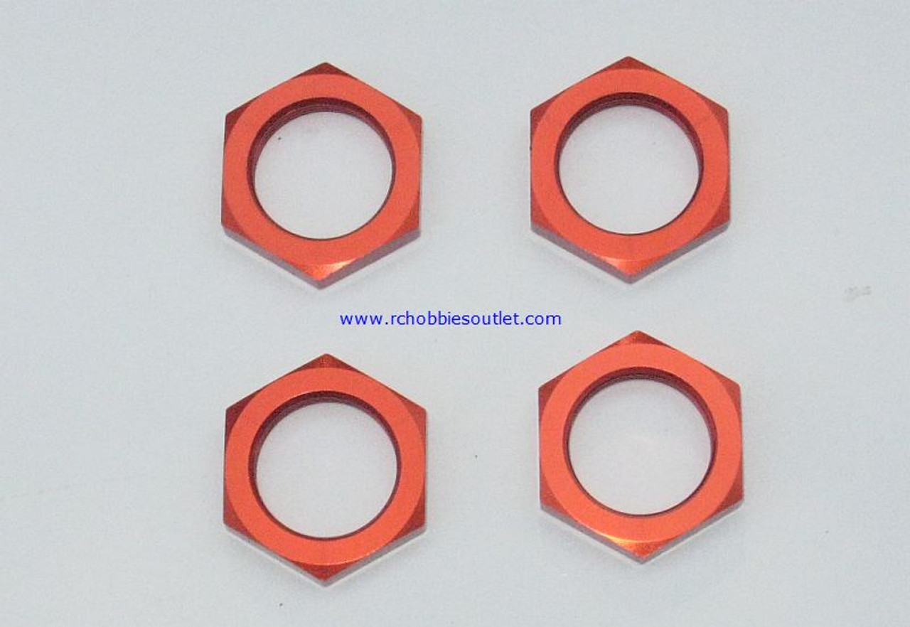 98035 WHEEL HEX NUTS ROCK CRAWLER 1/8 Orange