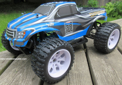 RC Truck Electric 1/10 Scale 4WD 2.4G Off- Road, RTR  111-BL