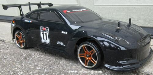 RC Drift Car Electric Radio  Control RTR 1/10 2.4G 4WD GTR