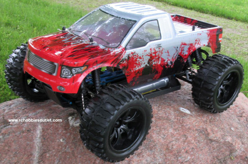 RC Truck Electric 1/10 Scale 4WD 2.4G Off- Road, RTR 88073
