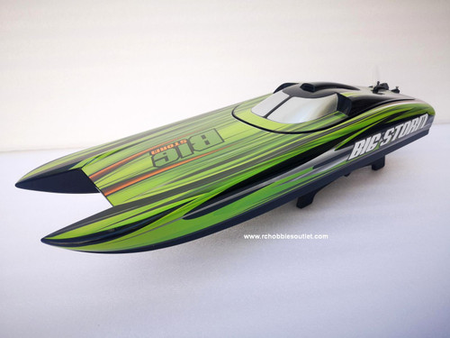 RC Racing Boat Big Storm Brushless Electric ARTR Catamaran