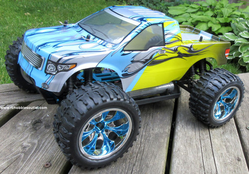 RC Truck Electric 1/10 Scale 4WD 2.4G Off- Road, RTR 88062