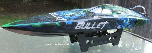 Bullet V4 RC Racing Boat  Brushless Electric RTR Deep V Hull LIPO Batteries and Charger