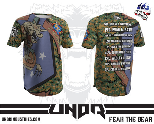 1st Battalion 4th Marines Veteran Militia Tech Shirt
