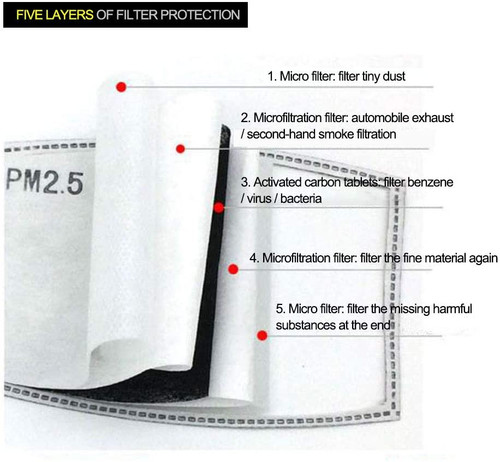 5 layer PM2.5 Activated Carbon Air Filter Insert (2) Pack