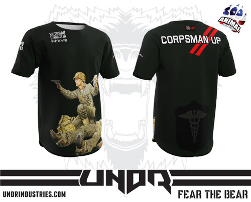 Corpsman Up Veteran Militia Tech Shirt